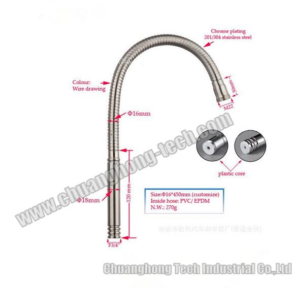 Stainless steel gooseneck tubing chuanghong industrial co